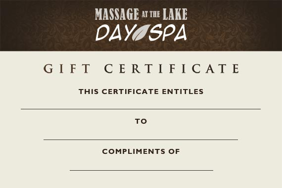Massage at the Lake Gift Certificate